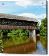 Lattice Covered Bridge Acrylic Print