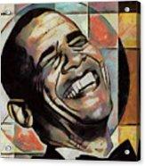 Laughing President Obama Acrylic Print