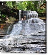 Laughing Whitefish Waterfall In Michigan Acrylic Print