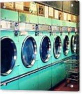 Laundromat Acrylic Print by Vivienne Gucwa
