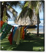 Laundry Day In Barbados Acrylic Print