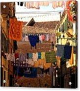 Laundry Day in Venice Acrylic Print