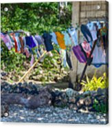 Laundry Drying In The Wind Acrylic Print