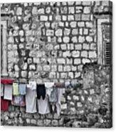 Laundry Line - Dubrovnik Croatia #3 Acrylic Print