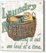 Laundry Room Sorting It Out Acrylic Print