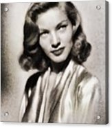 Lauren Bacall, Vintage Actress Acrylic Print