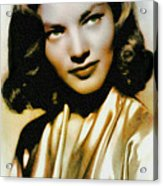 Lauren Bacall - Vintage Painting Acrylic Print