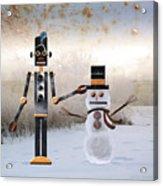 Laurence Builds A Snowman Acrylic Print