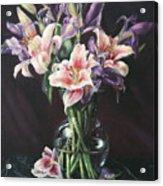 Laurette' Lillies Acrylic Print