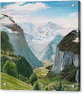 Lauterbrunnen Valley Switzerland Acrylic Print