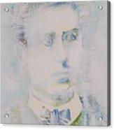 Lautreamont - Watercolor Portrait.3 Acrylic Print