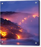 Lava At Twilight Acrylic Print