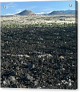 Lava Flow And Schonchin Butte, Lava Beds Nm, California, Usa Acrylic Print
