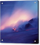 Lava Flows At Twilight Acrylic Print