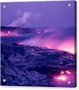 Lava Flows To The Sea Acrylic Print
