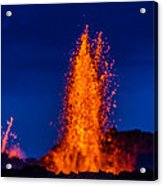 Lava Fountains At The Holuhraun Fissure Acrylic Print