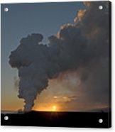 Lava Meets The Sea - Hawaii Acrylic Print