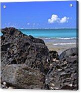 Lava Rocks At Haena Beach Acrylic Print