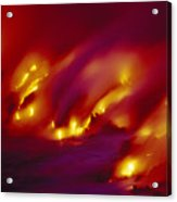 Lava Up Close Acrylic Print