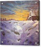 Lavendar Snow Acrylic Print