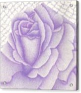 Lavender And Lace Acrylic Print