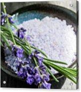Lavender Bath Salts In Dish Acrylic Print