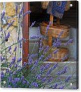 Lavender Blooming Near Stairway Acrylic Print