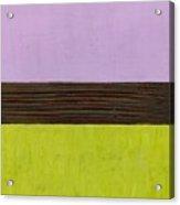 Lavender Brown Olive Acrylic Print