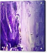 Lavender Cascades In The Purple Mountains Acrylic Print