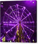 Lavender Ferris Wheel Acrylic Print