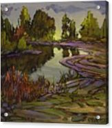 Lavender Field, Langley B C Acrylic Print
