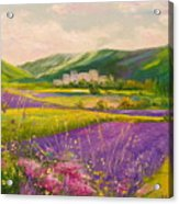 Lavender Fields Landscape Acrylic Print
