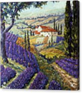 Lavender Fields Tuscan By Prankearts Fine Arts Acrylic Print