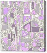 Lavender Hearts Acrylic Print