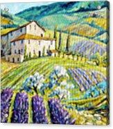 Lavender Hills Tuscany By Prankearts Fine Arts Acrylic Print