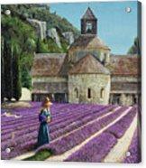 Lavender Picker - Abbaye Senanque - Provence Acrylic Print