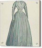 Lavender Taffeta Dress Acrylic Print