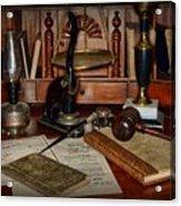 Lawyer - A Lawyers Desk Acrylic Print