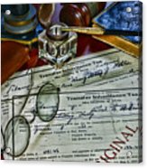 Lawyer - The Tax Attorney Acrylic Print