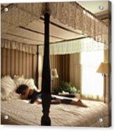 Lay Lady Lay Honeymoon Suite Nantucket Acrylic Print