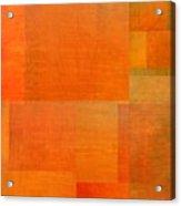 Layer Study - Orange Acrylic Print