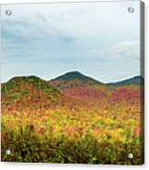 Layered Adirondack Colors Acrylic Print