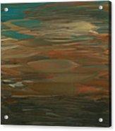 Layered Teal Sunset Acrylic Print