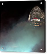 Laser Light Smoke And Great American Acrylic Print