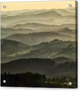Lazy Afternoon In Beskid Acrylic Print