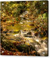 Lazy Mountain Water Fall Acrylic Print