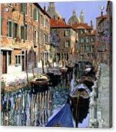 Le Barche Sul Canale Acrylic Print