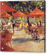 Le Cafe Du Jardin  Acrylic Print by Peter Graham