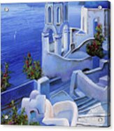 Le Chiese Blu Acrylic Print