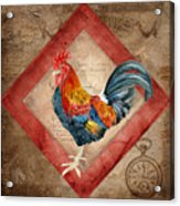Le Coq - Timeless Rooster  Acrylic Print